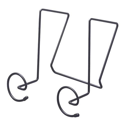 SafcProducts Company Panel Coat Hooks,Spiral Shaped,6-7//8x5-1//4x7-1//4,Charcoal