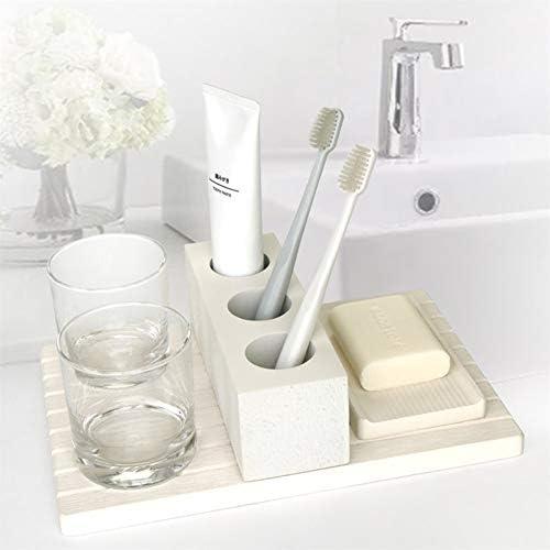 FXin バスルームアクセサリーセット、樹脂素材のパーソナルケア製品6セットの5ピースセットバスルームアクセサリー装飾的な装飾品、2色、2セット シャワー室 (Color : Gray, Size : Six-piece)