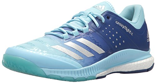 adidas Women's Shoes | Crazyflight X Volleyball Shoe - Ice Blue/Metallic Silver/Mystery Ink (7 M US) by adidas