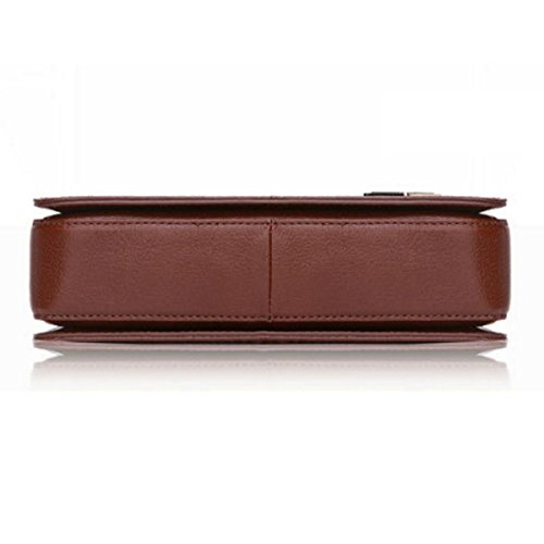 Bolso Hombro Ocio De Paquete De Bolsos De De marrón Hombres De Cuero Pequeño Los 1xqBqA