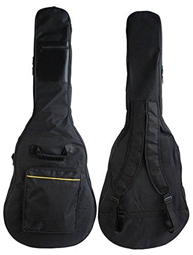 YMC 41 Inch Waterproof Dual Adjustable Shoulder Strap Acoustic Guitar Gig Bag 5mm Padding Backpack