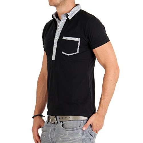 CARISMA Herren Kurzarm Polo Shirt Black 4102 Größe M