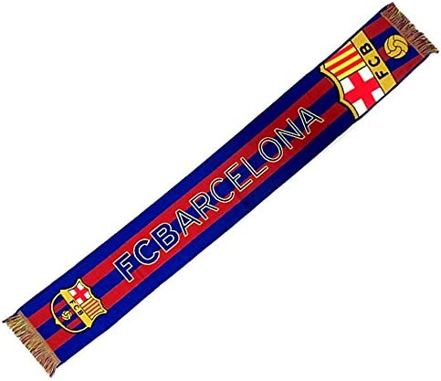 Bufanda F.C. Barcelona gran escudo telar [AB2206]: Amazon.es: Deportes y aire libre