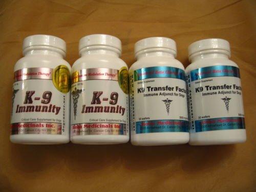 K-9 K9 Immunity (2 Bottles) + K-9 K9 Transfer Factor (2 Bottles) by Aloha Medicinals