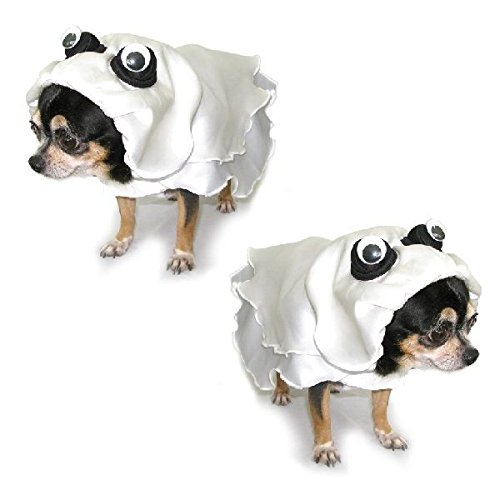 Zero The Ghost Dog Costume (Dog Costume GHOST COSTUMES - Dress Your Dogs Like Scary Ghosts (Size 0))
