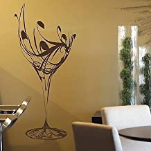 2016 NEW Wall stickers glass of wine Kitchen Home Decor Kitchen Art Vinyl Decal kitchen wall Transfer Poster