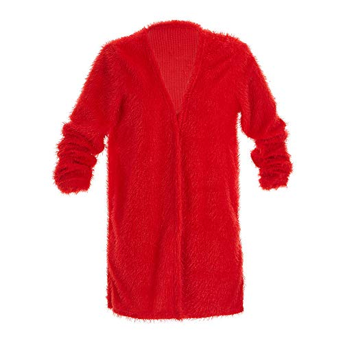 iYBUIA 2018 Autumn Winter Women's Fashion Autumn Winter Long Sleeve Cardigan Casual Coat(Red,S)