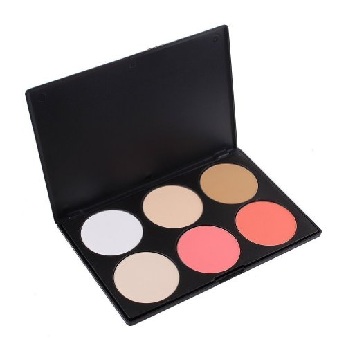 ieasysexy Professional 6 Colors Contour Face Power Foundation Concealer Camouflage Foundation Makeup Palette make up power two type can be choose (B -