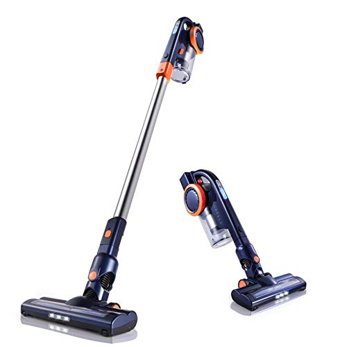 Orfeld Cordless Vacuum Cleaner, 2 in 1 Stick Vacuum Cleaner with 16 kPa Powerful Suction, Up to 50 Minutes Autonomy for Home and Car Cleaning – Blue