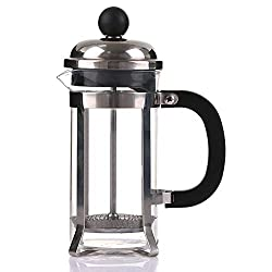 Youzpin French Press Coffee Tea Maker Stainless Steel Coffee Press with Filtration System Heat Resistant