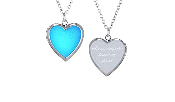 CliPons Mood Charm Necklace for Girls Heart Locket Pendant Letter Always on My Mind Forever in My Heart