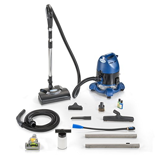 Ocean Blue Water Filtration Bagless Canister Vacuum Cleaner with pet Tool & Attachments