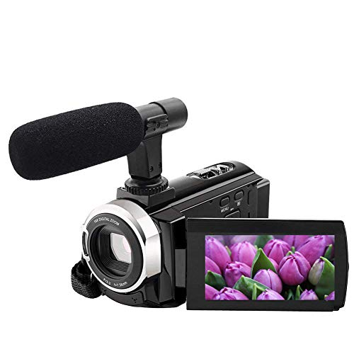 "4K Camcorder Video Camera WiFi Camcorders 48MP Digital Camera 3.00"" Touch Screen Night Vision Pause Function with microphone"