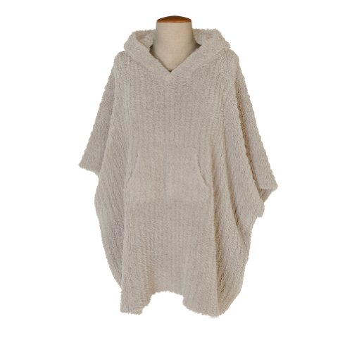 Barefoot Dreams Cozychic Ribbed Cozy (Stone) (Ribbed Poncho)
