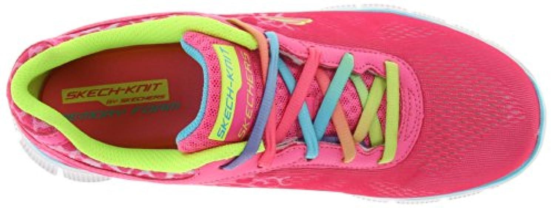 Skechers Flex Appeal Serengeti, Girls' Multisport Outdoor Shoes, Pink (Npmt - Neon Pink), 1.5 UK (34 EU)