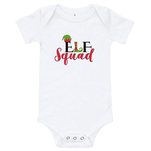 5f3b0df9c Amazon.com  Cheeky Apparel Elf Squad Christmas Baby Onesie T-Shirt ...
