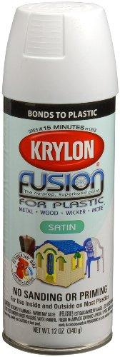 Krylon 2420 Fusion Spray Paint, Satin White Consumer Div Fusion