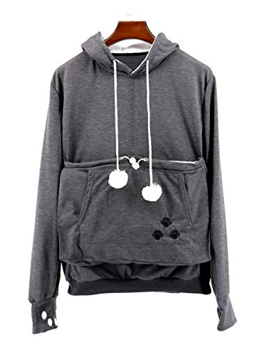 (NeuFashion Pet Cat Dog Kangaroo Pouch Hoodies Pullover Sweater Pocket Hoodie Cat Dog Holder Carrier Sweatshirt)