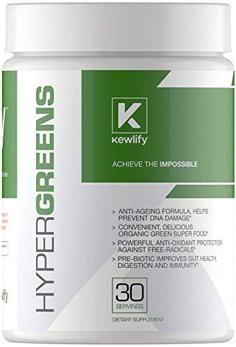 Kewlify- Hypergreens Superfood Formula- Greens Vitmains Minerals Digestive Health Amazing Taste