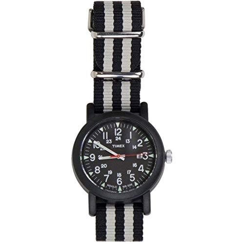 84cec7d8a35d Timex indiglo Reloj de Pulsera para Hombre Analógico de Cuarzo con Correa  de Nylon Negro y Gris  Amazon.es  Relojes