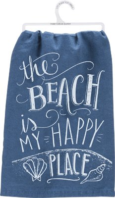 The Beach Is My Happy Place Tea Towel