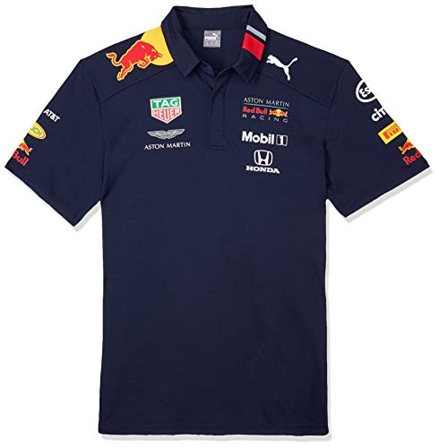 Aston Martin Red Bull Racing F1 Mens Team Polo 2019 L - Navy Blue Bull