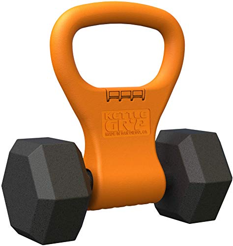 - Kettle Gryp - Kettlebell Adjustable Portable Weight Grip Travel Workout Equipment Gear for Gym Bag, Crossfit WOD, Weightlifting, Bodybuilding, Lose Weight | Clamps to Dumbells | Made in U.S.A.