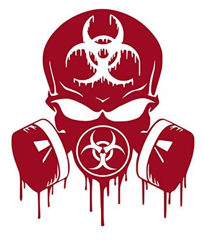 UR Impressions DRed Skull Dripping Biohazard Respirator Decal Vinyl Sticker Graphics for Cars Trucks SUV Vans Walls Windows Laptop|Dark RED|5.5 X 5 inch|URI349-DR