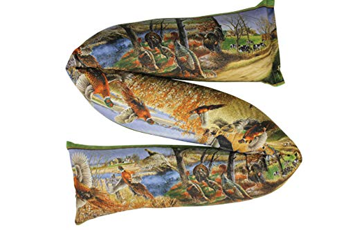 "The Maine Sales Company Draft Stopper Blocks Cold, Hot, Noise, Light 3"" X 38"" Buckwheat Hull Filled - Wildlife Scenes made in Maine"
