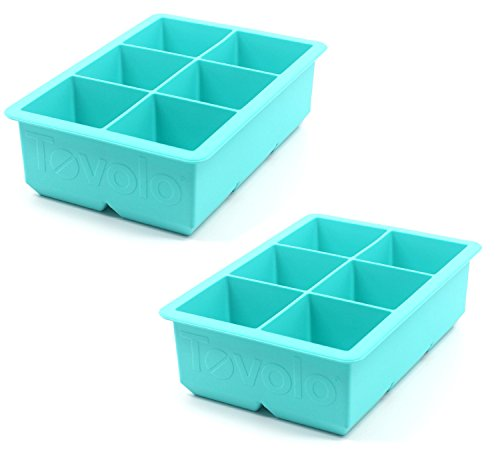 Tovolo Ice - Tovolo King Cube Ice Tray, Robin Egg Blue, Set of 2