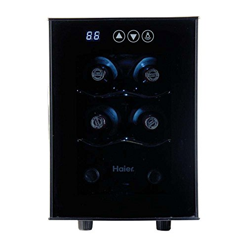 Haier 12-Bottle Dual Zone Curved Door with Smoked Glass Wine Cellar