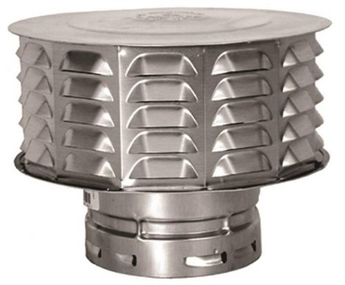 (American Metal, Cap Gas Vent 4in Double Wall, EA)