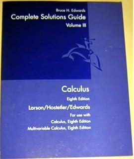 Calculus eighth edition larson hostetler edwards solutions manual.