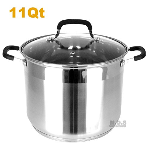 Stockpot 5 Layer Capsulated Bottom Stainless Steel Vaporera Tamalera Traditional Stock Pot Olla Tamale (11Qt) by itchen & Restaurant Supplies