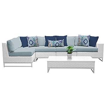 Amazon.com: TK Classics Miami - Juego de muebles de mimbre ...