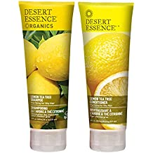 Desert Essence Organics Lemon Tea Tree Shampoo & Conditioner Bundle - 8 fl oz ea