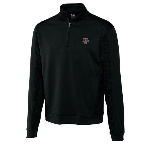 NCAA Men's Texas A&M Aggies Black Drytec Edge Half Zip Jacket, X-Large Buck Mens Drytec Edge