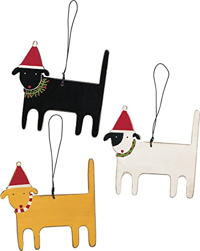 Ornaments - Christmas Dogs set of 3 3.25