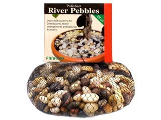 River Pebble Accents - Panacea Products PAN71015 28 Oz. Polished River Pebbles Mixed Colors, Pack Of 3