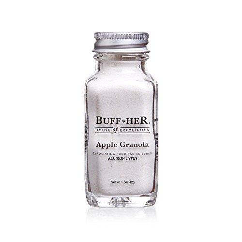 Buff Her Organic Exfoliating Facial Scrub, Apple Granola, 1.5 Ounce
