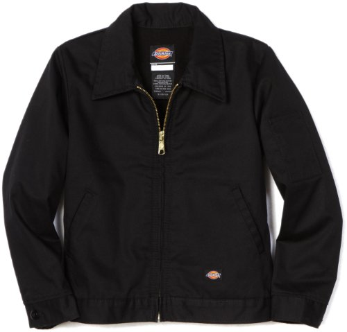 (Dickies Big Boys' Eisenhower Jacket, Black, Large)