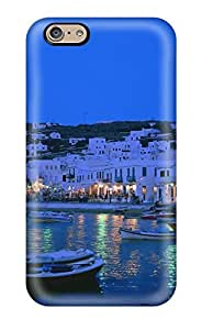 Fashionable Style Case Cover Skin For Iphone 6- Evening Harbor White Old Town Rush Nature Other