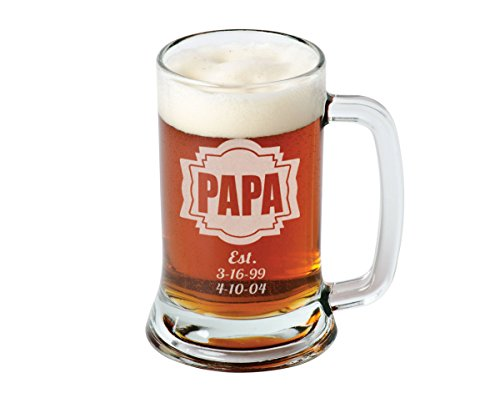 Very Amazon.com | 16 Oz Gift for Dad Fathers Day Engraved Glass Beer  GR77