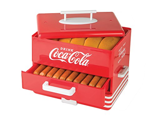 Best Buy! Nostalgia HDS248COKE Extra Large Coca-Cola Hot Dog Steamer