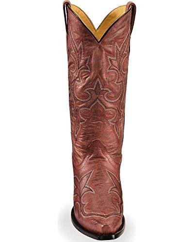 Corral Kvinna Vintage Läder Western Boot Klipp Tå - R1952 Röd