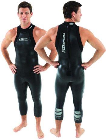 Triathlon John Wetsuit (Men's NeoSport Short John 5/3mm NeoSport Unisex Triathlon Sleeveless Wetsuit Tri Suit, X-Large)