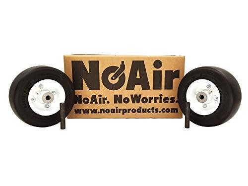 NoAir (2) Walker Flat Free Tire Assm 8x3.00-4 Replaces 8715-3, 5715-3, 5715-4, 4218 ()