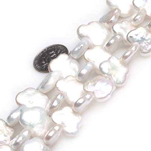 - JOE FOREMAN 11x15mm Biwa Freshwater Cultured Pearl Semi Precious Gemstone White Butterfly Animal Loose Beads for Jewelry Making DIY Handmade Craft Supplies 15