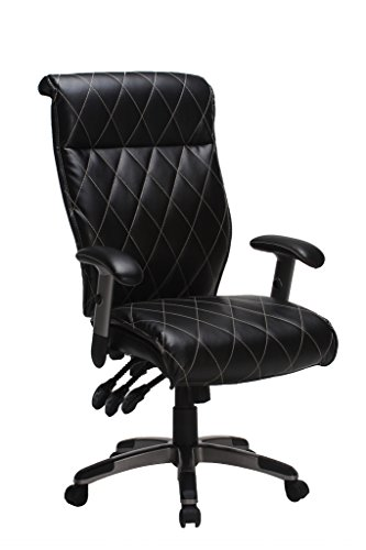VIVA OFFICE Fashionable Diamond Pattern High Back Bonded Leather Executive Chair with Adjustable Armrest ,Backrest and Seat (Backrest Pattern)