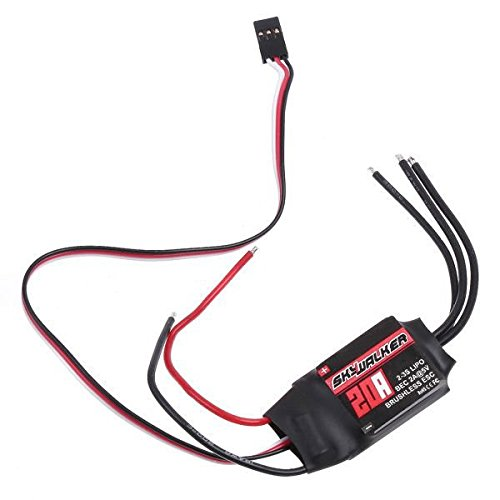 BW® 20Amp 20A ESC Brushless Speed Controller 2-3S LiPo for RC Airplane Quadcopter Multirotor Helicopter